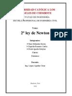 2º Ley de Newton
