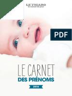 Carnet Prenoms 2016