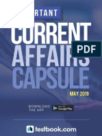 Current Affairs Monthly May 2019
