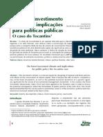 Clima de Investimento Florestal e Implicações Para Políticas Públicas