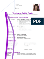 Exemple CV Créatif Violet