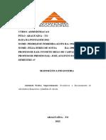 ATPS de Matematica Financeira