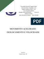Movimento Acelerado - Deslocamento e Velocidade (2)