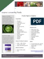 MTHFR Support Australia Sulphur Containing Foods
