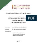 Sistemas de Protección de Subestaciones y Transformadores