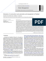 Estimation of construction waste generation and management in Thailand
