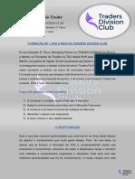 Formação Trader Traders Division Club 2919 / 2020 - Forex Trading para Traders Iniciantes.
