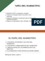 el papel del marketing