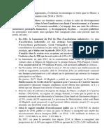 Les Principaux Changements, Évolution Économique Et Faits Que Le Maroc a Connu Ces Dernières Années (de 2014 à 2019)