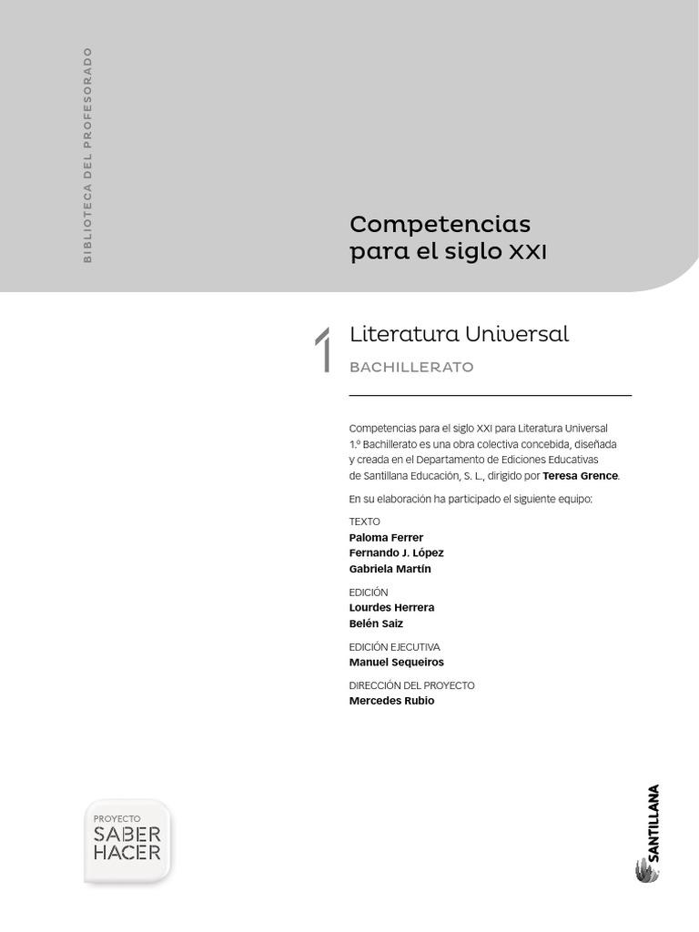 Biblioteca Del Profesorado Competencias Para El Siglo Xxi Literatura Universal Aldea El Decameron
