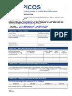 PICQS Membership Form