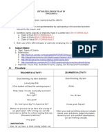 Deatailed Lesson Plan for Types of Claim