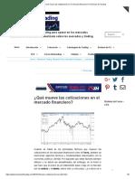 ¿Qué Mueve Las Cotizaciones en El Mercado Financiero_ _ Técnicas de Trading