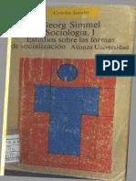 Simmel 1908 - Sociología, Estudios Sobre Las Formas de Socialización Vol. I_compressed