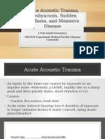 AAT Presbyacusis Sudden Deafness Menierre Disease