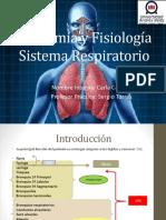 Anatomía y Fisiología Sistema Respiratorio