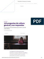 _120 Preguntas de Cultura General y Sus Respuestas