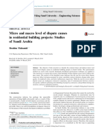 Micro and Macro Level of Dispute Causes in Residential Building Projects_ Studies of Saudi Arabia