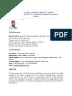 Dr Murtaza Najmi Dubai 8.00 Yrs