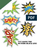 Superhero Kapow Wording Printables