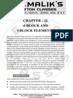 d block elements by Malik