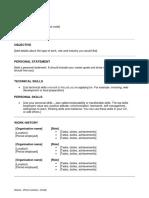 Skills Focused CV Template