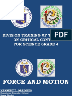 Force and Motion PPT 2018