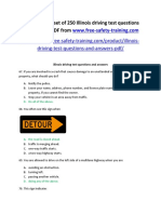 Illinois Driving Test Questions and Answers Sample