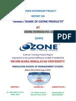 Ozone Overseas Report (Market Share of Ozone)