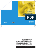 Household Water Treatment Safe Storage PARTICIPANT