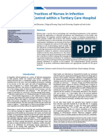 Knowledge and Practices of Nurses in Infection Prevention and Control Within a Tertiary Care Hospital
