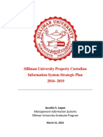 Silliman University Property Custodian Issp 2016-2019 - Aurelio s. Lopez