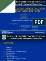 DESIGN AND FABRICATION OF HAND OPERATED PENDULUM PUMP