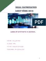 Additional Mathematics Project Work 2019
