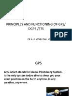 Principle of Functioning of DGPS & ETS