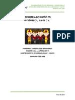 P.E.S.H Operación y Mantenimiento de Maquinaria y Equipo