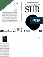 De Sousa, B. Una Epistemología Del Sur