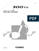 User Manual Casio Keyboard LK 300 TV