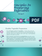 Principles in Preparing Vegetables