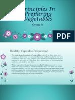 Principles in Preparing Vegetables