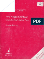 Five Negro Spirituals - Tippett - SATB