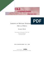 Lezioni Di Metodi Matematici Per La Fisica