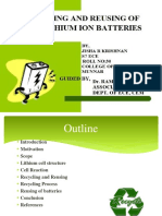 RECYCLING AND REUSING OF LI ION BATTERIES