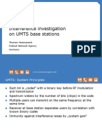 Interference detection UMTS