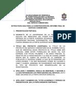 GUIA PARA LA CONSTRUCCIÓN DEL INFORME FINAL DE SERVICIO COMUNITARIO. N 2