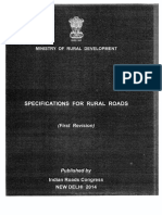 MoRD Specification for Rural Roads 2014
