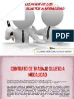 Contrato de Trabajo Sujeto a Modalidad