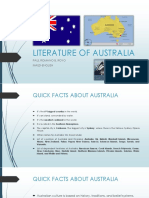 Literature of Australia Report