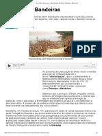 Entradas e Bandeiras. Interiorização Do Brasil_ Entradas e Bandeiras
