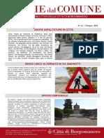 Notizie Dal Comune di Borgomanero del 7 Giugno 2019